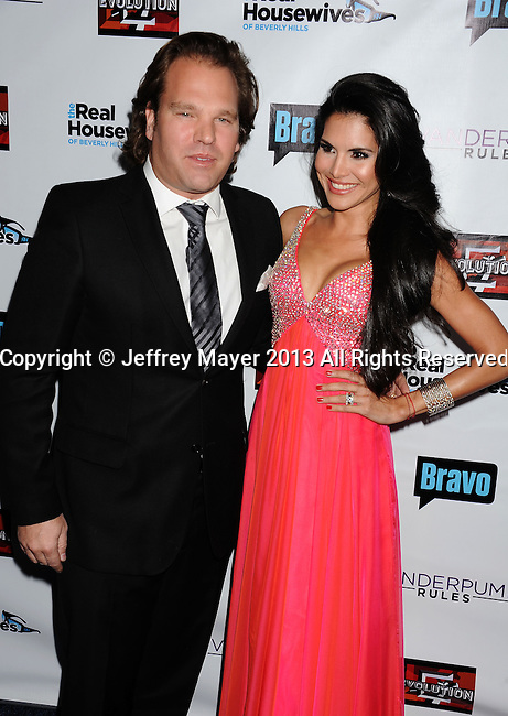 HOLLYWOOD, CA- OCTOBER 23: TV personality Joyce Giraud de Ohoven (R) and husband Michael Ohoven arrive at 'The Real Housewives Of Beverly Hills' And 'Vanderpump Rules' premiere party at Boulevard3 on October 23, 2013 in Hollywood, California.