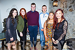 Enjoying the evening out in Bella Bia on Friday<br /> L to r: Ashling Quirke, Ellie Foley, Luke Stack, Tomas Lynch, Rachel Dunne and Yasmine McGrath.