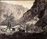 BNPS.co.uk (01202 558833)<br /> Pic: DominicWinter/BNPS<br /> <br /> Village of Gugangair in the Scinde Valley.<br /> <br /> Fascinating 150 year-old photographs of India taken in the aftermath of the failed mutiny have sold for almost &pound;8,000 at auction.<br /> <br /> The images, which date from 1863 to 1870, capture native soldiers with their weapons and picturesque landscapes and were taken by celebrated 19th century photographer Samuel Bourne.<br /> <br /> They went for a hammer price of &pound;6,400 to a private collector from America who bid online with extra fees pushing the overall price above &pound;7,800.<br /> <br /> Together with Charles Shepherd, Bourne set up photo studio Bourne &amp; Shepherd first in Simla in 1863 and later in Calcutta.