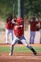 Cincinnati Reds Daniel Jimenez (26) during an Instructional League game against the Chicago White Sox on October 11, 2016 at the Cincinnati Reds Player Development Complex in Goodyear, Arizona.  (Mike Janes/Four Seam Images)