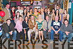 Engagement: Celebrating their engagement party in The Greyhound Bar, Tralee, on Friday evening were Eve Herlihy, Coiscoille, and Jason Boyle, Clonmore Terrace (seated centre)..