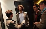 6.10.2013, Berlin, Amano Rooftop Conference Center. High-Tech Forum Berlin. Deidre Berger im Gespräch mit Sergej Tchernik (rechts) und den Organisatoren Itai Ben Jacob (Mitte) und Elad Leschem (rechts)