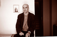 Francesco Clemente is an Italian contemporary artist. He has lived at various times in Italy, in India, and in New York City. Some of his work is influenced by the traditional art and culture of India. Locarno agosto 1993. © Leonardo Cendamo