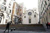 Veduta di Piazza San Matteo, con la chiesa omonima sulla destra, a Genova.<br /> View of Piazza San Matteo, with the homonymous church at right, in Genoa.<br /> UPDATE IMAGES PRESS/Riccardo De Luca