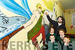 Firies artist Sean Murray who painted a mural of Cuchulainn, Tir na nÓg and Setanta in Firies NS with Christopher McLoughlin, Rian O'Colleran, Saoirse Teahan, Lily O'Connell