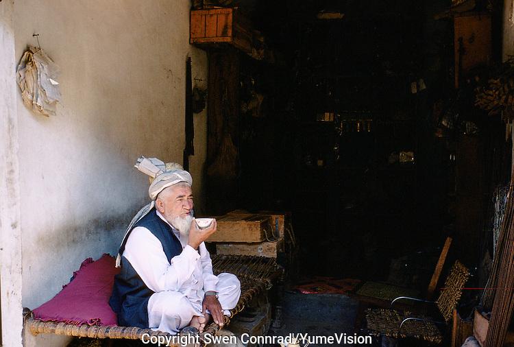 Tea time in Peshawar, Pakistan