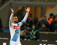 Lorenzo Insigne  during the  italian serie a soccer match,between Inter FC  and SSC Napoli      at  the San Siro   stadium in Milan  Italy , April  30, 2017