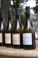 bottles for tasting domaine montirius vacqueyras rhone france