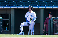 Surprise Saguaros right fielder Cavan Biggio (26), of the Toronto Blue Jays organization, during an Arizona Fall League game against the Salt River Rafters on October 9, 2018 at Surprise Stadium in Surprise, Arizona. Salt River defeated Surprise 10-8. (Zachary Lucy/Four Seam Images)