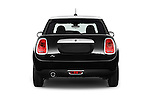Straight rear view of a 2015 MINI Mini Cooper 5 Door Hatchback 2WD Rear View  stock images