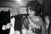 Hal Prince and Elizabeth Taylor 1978<br /> Photo By Adam Scull/PHOTOlink/MediaPunch