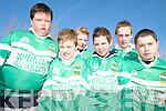 TEAM: Donning the team jerseys at the St Patrick's Day Parade in Milltown were front l-r: Kieran Hobbins, Peadar Keane, Darragh O'Shea, Conor Keane. Back l-r: Brian Buckley, Kieran Brosnan.