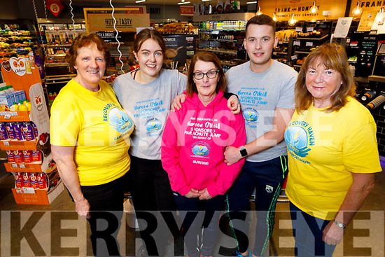 Noreen O'Neill  from Ardfert who is taking part in a parachute jump for Recovery Haven.<br /> L to r: Philomena Stack (Recovery Haven), Emma Harrington, Noreen O'Neill, Fionnan Horgan and Kathleen Collins (Recovery Haven.)
