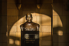 Aug. 27, 2014; Bust of Knute Rockne in Rockne Memorial.<br /> <br /> Photo by Matt Cashore/University of Notre Dame