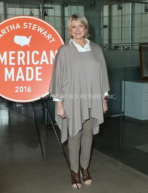 www.acepixs.com<br /> <br /> October 22 2016, New York City<br /> <br /> Martha Stewart made an appearance at the Martha Stewart 2016 American Made Summit on October 22 2016 in New York City<br /> <br /> By Line: Nancy Rivera/ACE Pictures<br /> <br /> <br /> ACE Pictures Inc<br /> Tel: 6467670430<br /> Email: info@acepixs.com<br /> www.acepixs.com