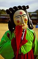 Mask dance drama (Hahoe Pyolshin-guttal-Nori) Hahoe Folk Village, near Andong, South Korea