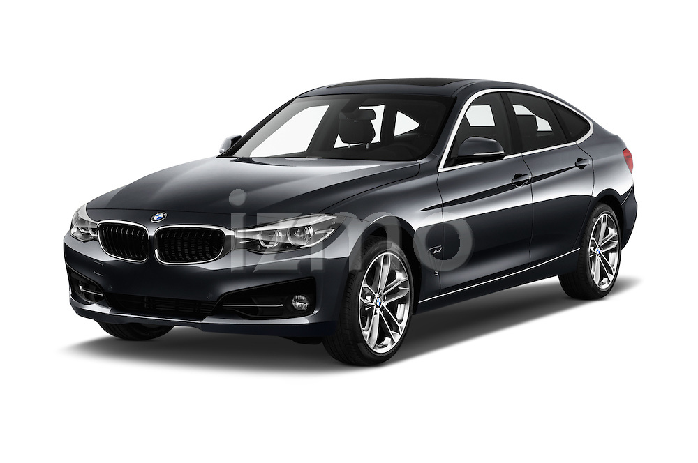 2017 BMW 3-Series-GT Sport 5 Door Hatchback Angular Front stock photos of front three quarter view