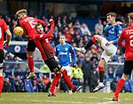 16.03.2019 Rangers v Kilmarnock: Borna Barisic lets rip with a shot