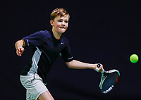 Hilversum, Netherlands, December 3, 2017, Winter Youth Circuit Masters, 12,14,and 16 years, Ties de Regt (NED)<br /> Photo: Tennisimages/Henk Koster