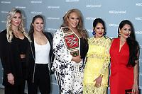 NEW YORK, NY - MAY 14: Charlotte Flair, Ronda Rousey, Nina Jax, Brie Bella, Nikki Bella at the 2018 NBCUniversal Upfront at Rockefeller Center in New York City on May 14, 2018.  <br /> CAP/MPI/RW<br /> &copy;RW/MPI/Capital Pictures