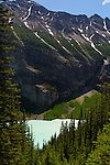 Lake Louise as seen from the trail hike up to Agnes Lake and the teahouse from the Fairmont Lake Louise.