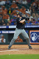 Chad McDaniel (20) of the Missouri Tigers at bat against the Texas Longhorns in game eight of the 2020 Shriners Hospitals for Children College Classic at Minute Maid Park on March 1, 2020 in Houston, Texas. The Tigers defeated the Longhorns 9-8. (Brian Westerholt/Four Seam Images)