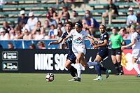 Cary, North Carolina  - Saturday June 03, 2017: Shea Groom and Elizabeth Eddy during a regular season National Women's Soccer League (NWSL) match between the North Carolina Courage and the FC Kansas City at Sahlen's Stadium at WakeMed Soccer Park. The Courage won the game 2-0.