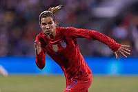COLUMBUS, OH - NOVEMBER 07: Tobin Heath #17 of the United States sprints during a game between Sweden and USWNT at Mapfre Stadium on November 07, 2019 in Columbus, Ohio.