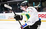 Stockholm 2014-11-16 Ishockey Hockeyallsvenskan AIK - IF Bj&ouml;rkl&ouml;ven :  <br /> Bj&ouml;rkl&ouml;vens Emil Lundberg jublar efter sitt 3-2 m&aring;l under matchen mellan AIK och IF Bj&ouml;rkl&ouml;ven <br /> (Foto: Kenta J&ouml;nsson) Nyckelord:  AIK Gnaget Hockeyallsvenskan Allsvenskan Hovet Johanneshov Isstadion Bj&ouml;rkl&ouml;ven L&ouml;ven IFB depp besviken besvikelse sorg ledsen deppig nedst&auml;md uppgiven sad disappointment disappointed dejected