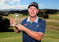 Individual player of the tournament Mark Hutson of North Harbour, Day Four of the Toro Interprovincial Men's Championship, Mangawhai Golf Course, Mangawhai,  New Zealand. Saturday 9 December 2017. Photo: Simon Watts/www.bwmedia.co.nz