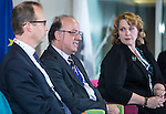 "BRUSSELS - BELGIUM - 24 November 2016 -- European Training Foundation (ETF) Conference on ""GETTING ORGANISED FOR BETTER QUALIFICATIONS"" - Panel discussion: Making QFs work globally. -- Koen Nomden, Team Leader - Skills and qualifications recognition tools - DG Employment  Social Affairs and Inclusion; Loukas Zahilas, Head of Department - European Centre for the Development of Vocational Training (CEDEFOP), Department for VET Systems and VET Institutions; Helene Skikos, Policy Officer - DG Education and Culture. -- PHOTO: Juha ROININEN / EUP-IMAGES"