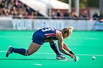 ROTTERDAM - Ashley Hoffman (USA)  tijdens de Pro League hockeywedstrijd dames, Nederland-USA  (7-1) .   COPYRIGHT  KOEN SUYK