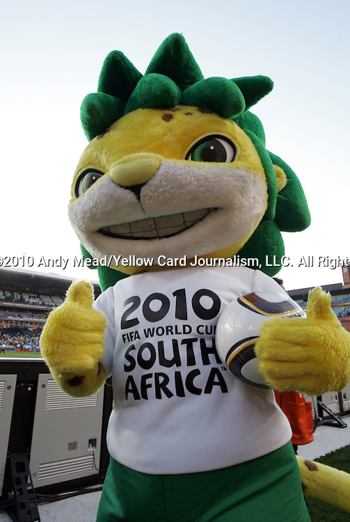 13 JUN 2010:  FIFA 2010 World Cub mascot.  The Serbia National Team played the Ghana National Team at Loftus Versfeld Stadium in Tshwane/Pretoria, South Africa in a 2010 FIFA World Cup Group D match.