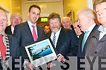 The Minister for Health Dr. James Reilly, TD, attending the turning the sod to officially mark the commencement of construction on the new Community Hospital in Kenmare on Friday last.