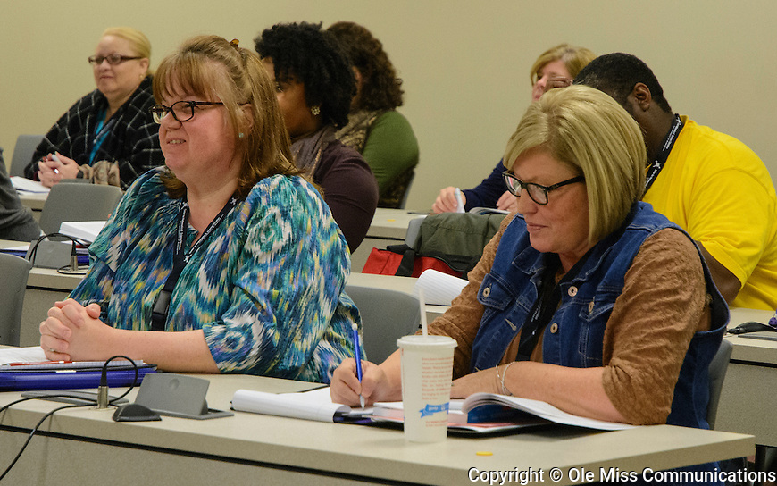 Mathematics Formative Assessment Conference at the Jackson Avenue Center on Feb. 17, 2017. Photo by Marlee Crawford/Ole Miss Communications
