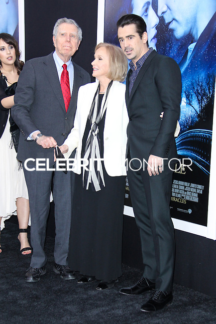 "NEW YORK, NY - FEBRUARY 11: Jeffrey Hayden, Eva Marie Saint, Colin Farrell at the World Premiere Of Warner Bros. Pictures' ""Winter's Tale"" held at Ziegfeld Theatre on February 11, 2014 in New York City. (Photo by Jeffery Duran/Celebrity Monitor)"