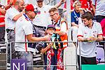 11.08.2019, Stadion an der Bremer Brücke, Osnabrück, GER, DFB Pokal, 1. Hauptrunde, VfL Osnabrueck vs RB Leipzig, DFB REGULATIONS PROHIBIT ANY USE OF PHOTOGRAPHS AS IMAGE SEQUENCES AND/OR QUASI-VIDEO<br /> <br /> im Bild | picture shows:<br /> ein junger Leipzig Fan freut sich, die Torwart-Handschuhe von Peter Gulacsi (RB Leipzig #1) geschenkt bekommen zu haben, <br /> <br /> Foto © nordphoto / Rauch