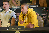 Jordan Gill during a Press Conference at the Courthouse Hotel on 13th September 2018