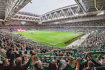 Stockholm 2015-07-27 Fotboll Allsvenskan Hammarby IF - IFK Norrk&ouml;ping :  <br /> Vy &ouml;ver Tele2 Arena med Hammarbys supportrar p&aring; l&auml;ktarna inf&ouml;r matchen mellan Hammarby IF och IFK Norrk&ouml;ping <br /> (Foto: Kenta J&ouml;nsson) Nyckelord:  Fotboll Allsvenskan Tele2 Arena Hammarby HIF Bajen IFK Norrk&ouml;ping supporter fans publik supporters inomhus interi&ouml;r interior