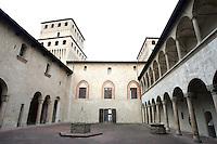 Il cortile del Castello di Torrechiara.<br /> The courtyard of the Castle of Torrechiara.<br /> UPDATE IMAGES PRESS/Riccardo De Luca