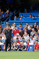 Sheffield United manager, Chris Wilder during the Premier League match between Chelsea and Sheff United at Stamford Bridge, London, England on 31 August 2019. Photo by Carlton Myrie / PRiME Media Images.