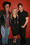 """Randy Jones (Village People), Terri & Artie Colombino perform at the table: A Special Talent Reading of the new novel """"The Great Heist"""" by author and filmmaker Kenneth Del Vecchio on November 3, 2008 at the Williams Center, Rutherford, New Jersey. The event is presented by Justice For All Productiona and the Hoboken International Film Mestival and osted by Bergen County Film Commission.   (Photo by Sue Coflin/Max Photos)"""