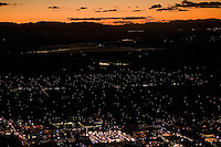 night aerial of Pueblo, CO