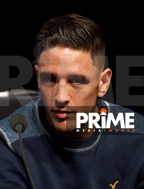 Kelvin Young during the final press conference ahead of the George Groves v Andrea Di Luisa fight set for Saturday 30th January 2016 at the Copper Box, at Stratford Circus, Theatre Square, England on 28 January 2016. Photo by Alan  Stanford/PRiME Media Images.