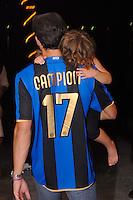 Javier Zanetti, capitano Inter, festa scudetto 2009,i, figlia Sol,