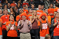 Virginia fans cheer on their team during the game against Wake Forest Wednesday Jan. 08, 2014 in Charlottesville, Va. Virginia defeated Wake Forest 74-51.