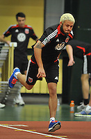 D.C. United midfielder Nick DeLeon during the pre-season fitness training session at George Manson University before departing for Bradenton Florida to get ready for the 2013 season, Friday January 18, 2013.
