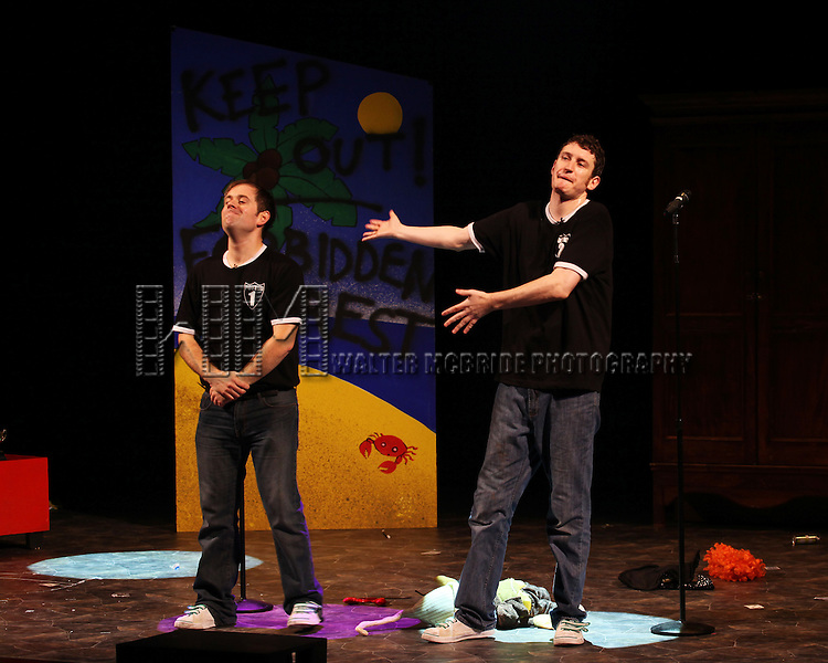 Jefferson Turner & Daniel Clarkson Opening Night Bows on Broadway in 'Potted Potter' at the Little Shubert Theatrenin New York City, NY on June 3, 2012. *** Exclusive Coverage ***