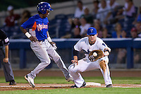 August 19,2010 Kiel Roling (1) in action during the MiLB game between the Midland RockHounds and the Tulsa Drillers at OneOk Field in Tulsa Oklahoma.