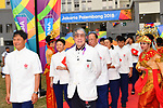 Hong Kong Delegation (HKG), <br /> AUGUST 16, 2018 : Welcome Ceremony for the Hong Kong delegation at Athlete's Village during the 2018 Jakarta Palembang Asian Games in Jakarta, Indonesia. (Photo by MATSUO.K/AFLO SPORT)
